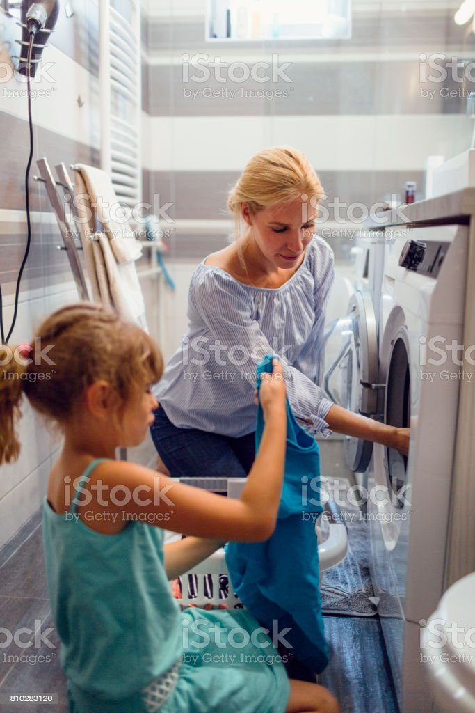 Clothes Washer Laundry Little Girls Clothing Pictures, Images and ...