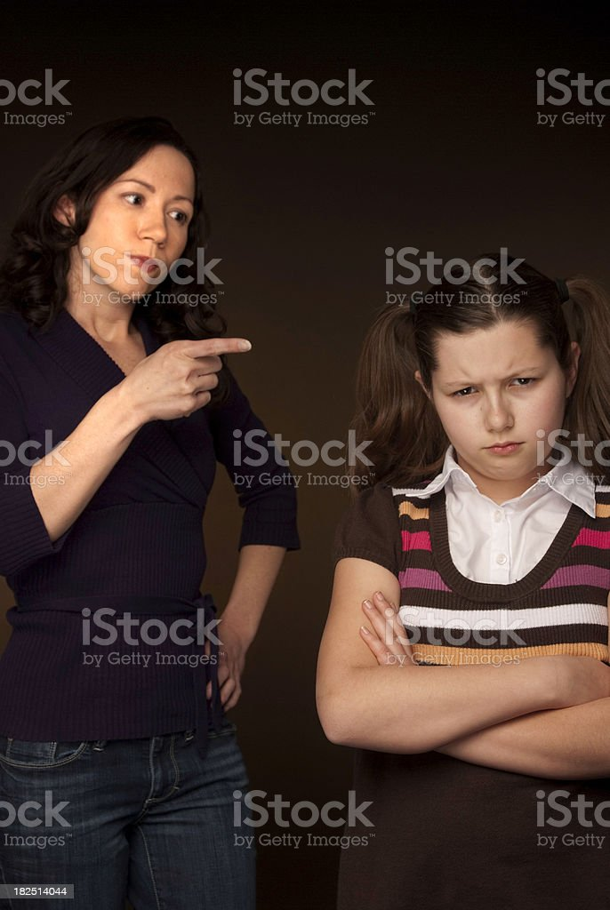 Mother And Daughter Fighting royalty-free stock photo