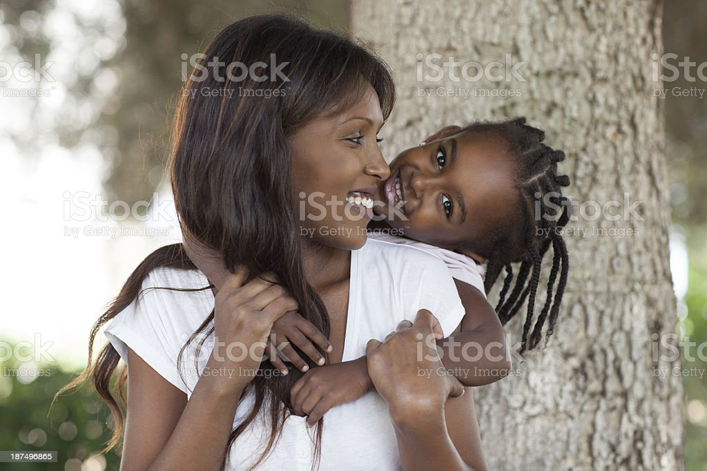 Mother and daughter hugging. royalty-free stock photo