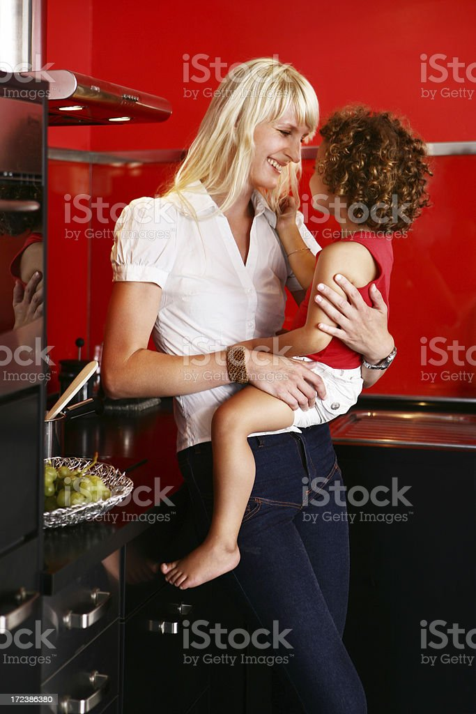 Mother and Daughter in the kitchen royalty-free stock photo