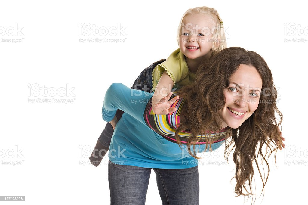 Mother and daughter isolated royalty-free stock photo