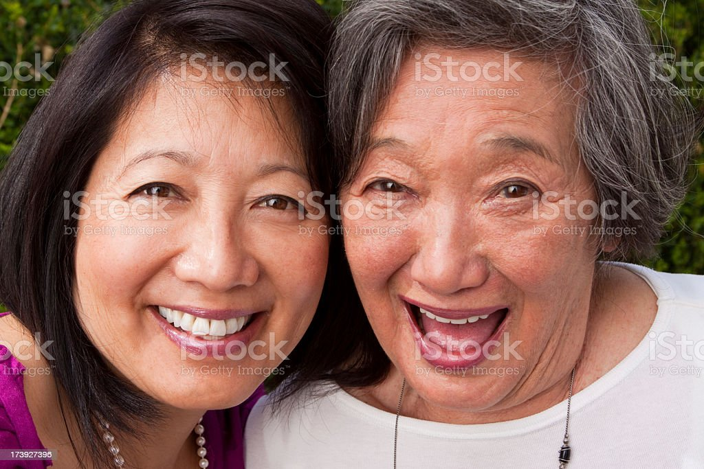 Mother and daughter  laughing royalty-free stock photo