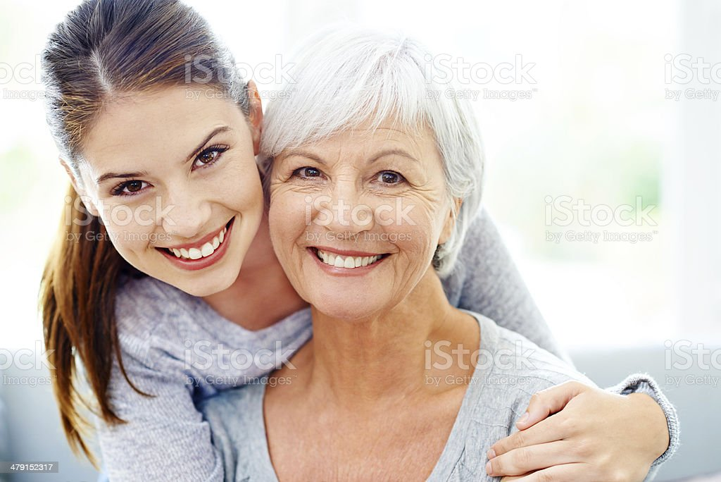 Mother and daughter likeness stock photo
