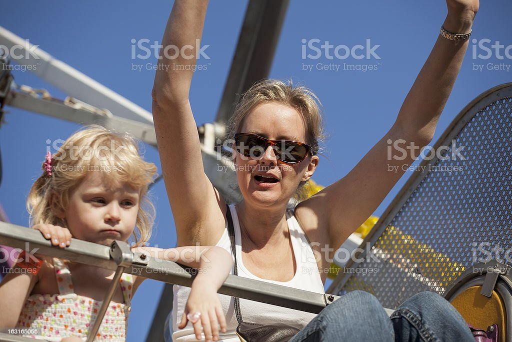 Mother and Daughter on a Ride at the Fair royalty-free stock photo