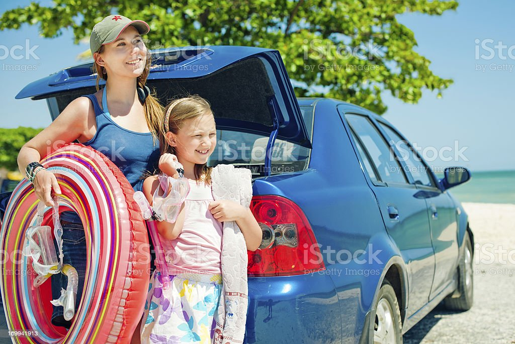 Mother and daughter on holidays royalty-free stock photo