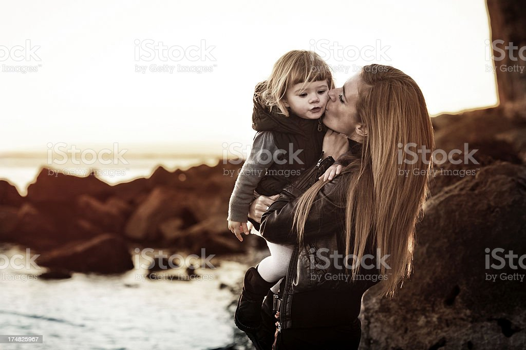 Mother and daughter outdoor royalty-free stock photo