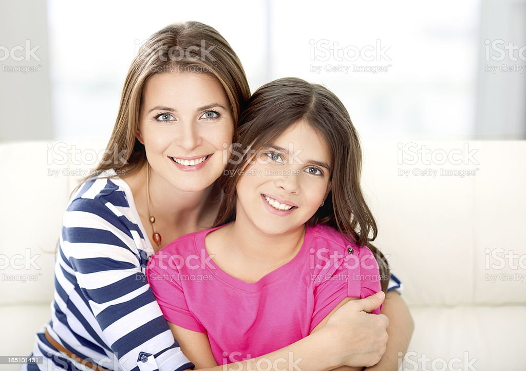 Mother and daughter. royalty-free stock photo