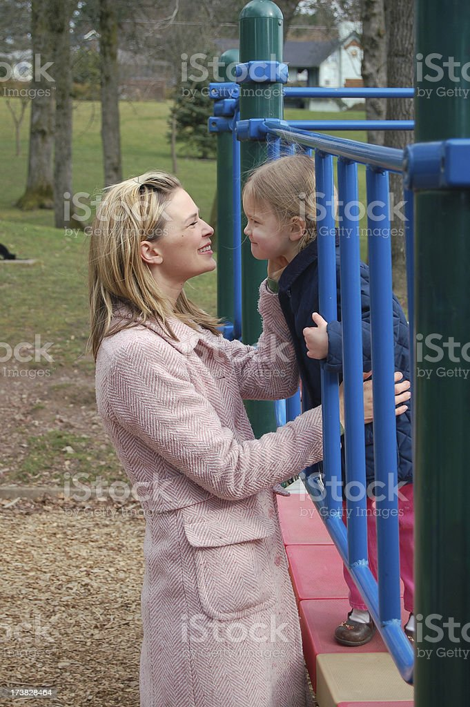Mother and Daughter Play stock photo