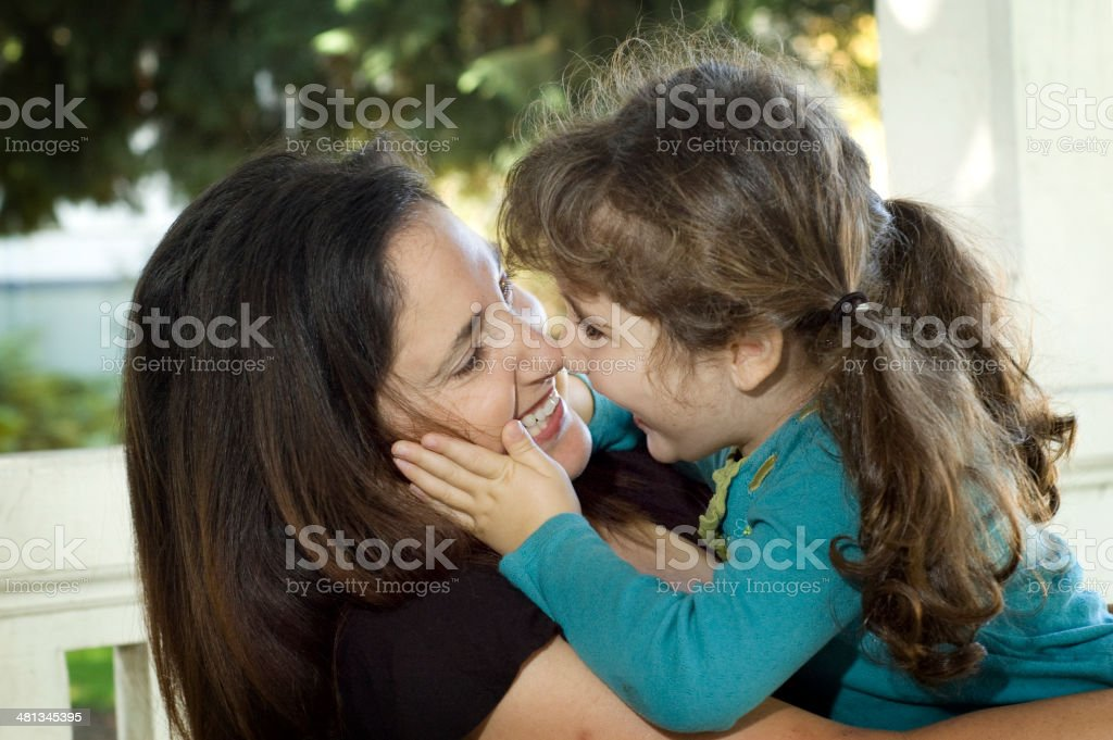Mother and Daughter Playing royalty-free stock photo
