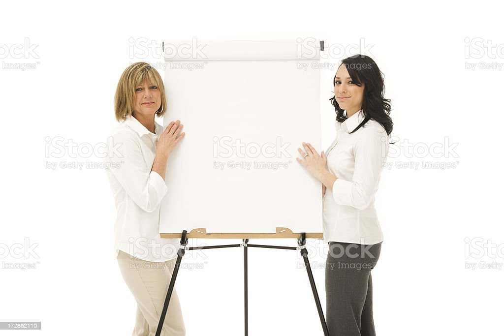 Mother and Daughter Presenting royalty-free stock photo