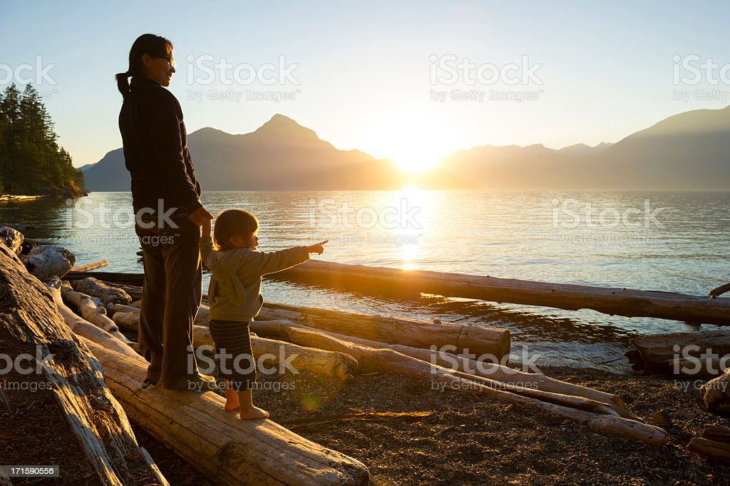 Mother and daughter sharing a connection stock photo
