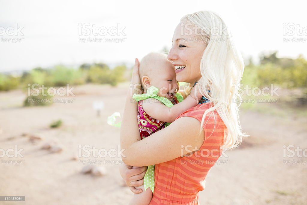 Mother and Daughter smiling. royalty-free stock photo
