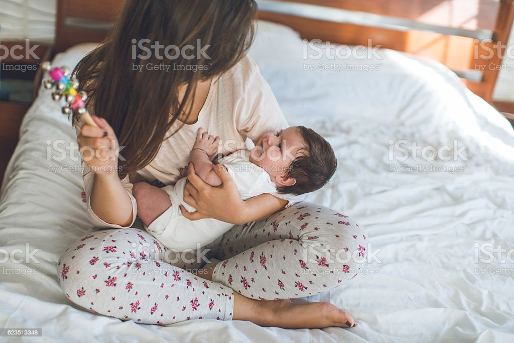Mother and daughter time stock photo