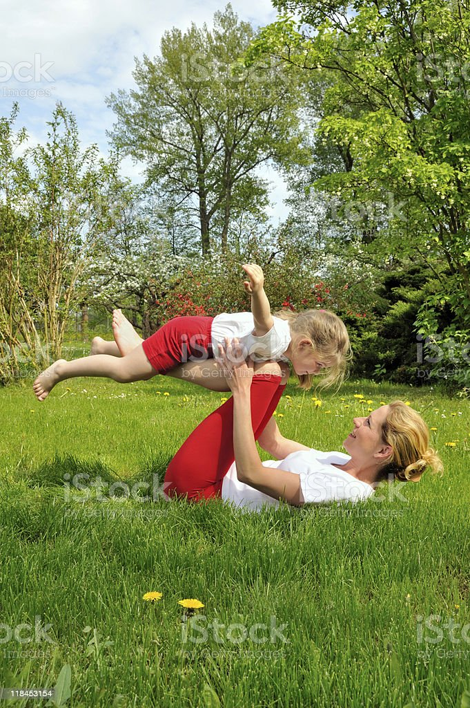 Mother and daughter - training stock photo