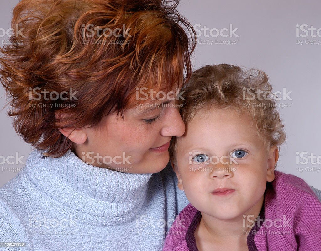 mother and daughter V royalty-free stock photo