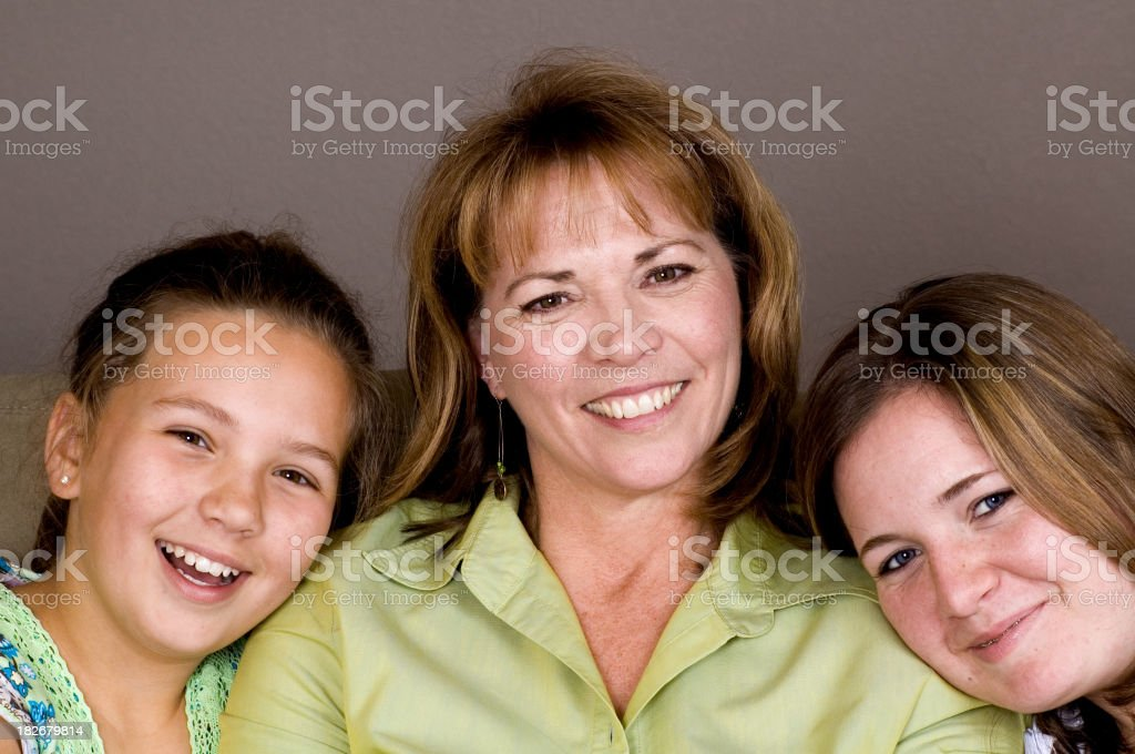 Madre e figlie Close-up foto stock royalty-free