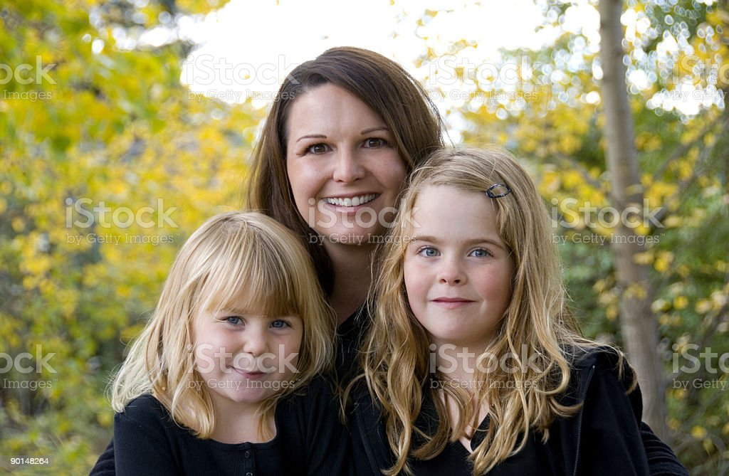 Mother and daughters. royalty-free stock photo