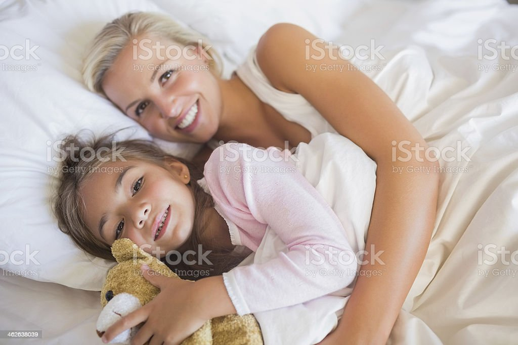 Mother and daugther smiling royalty-free stock photo
