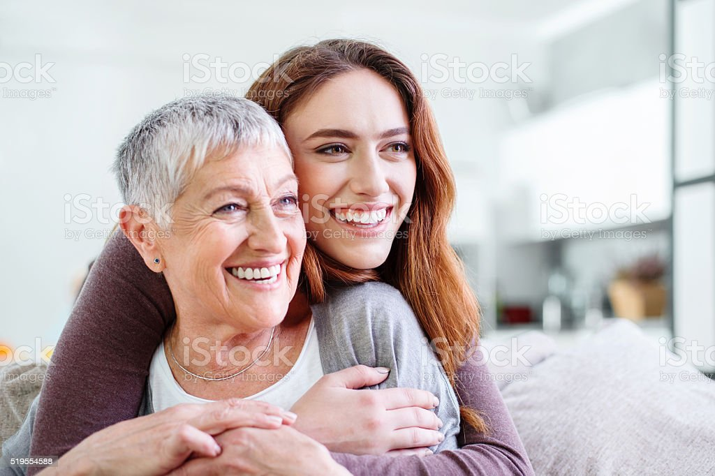Mother and dauther Holding stock photo