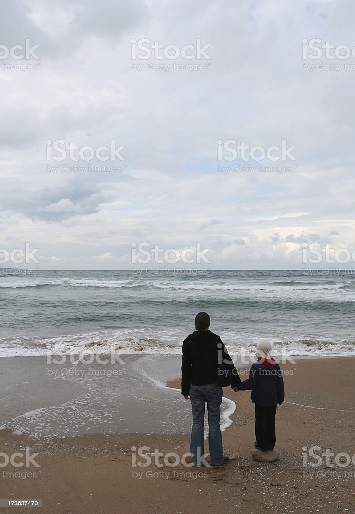 Mother and her boy royalty-free stock photo