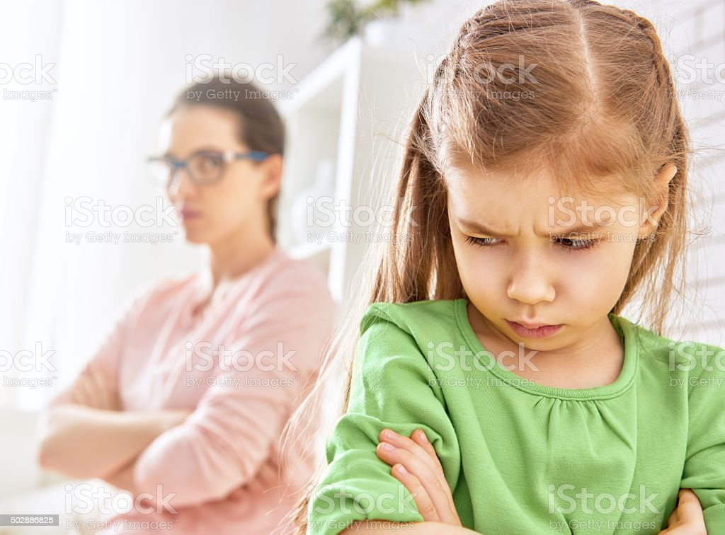 mother and her daughter stock photo