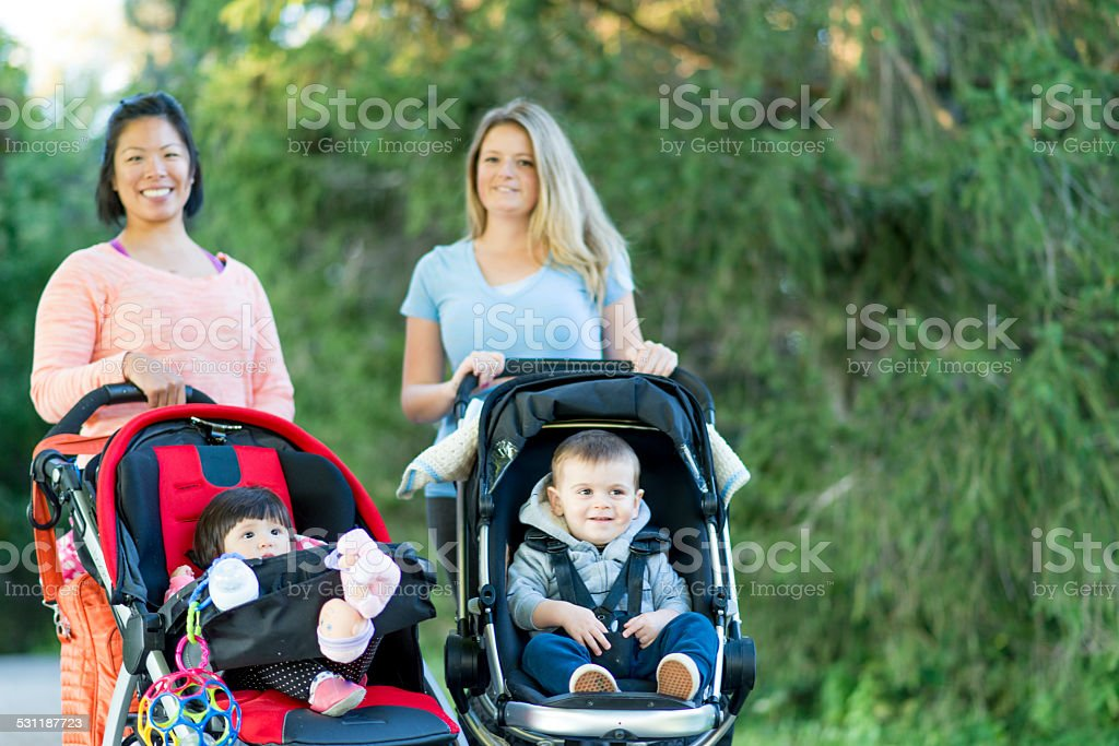 Mother and her kid stock photo