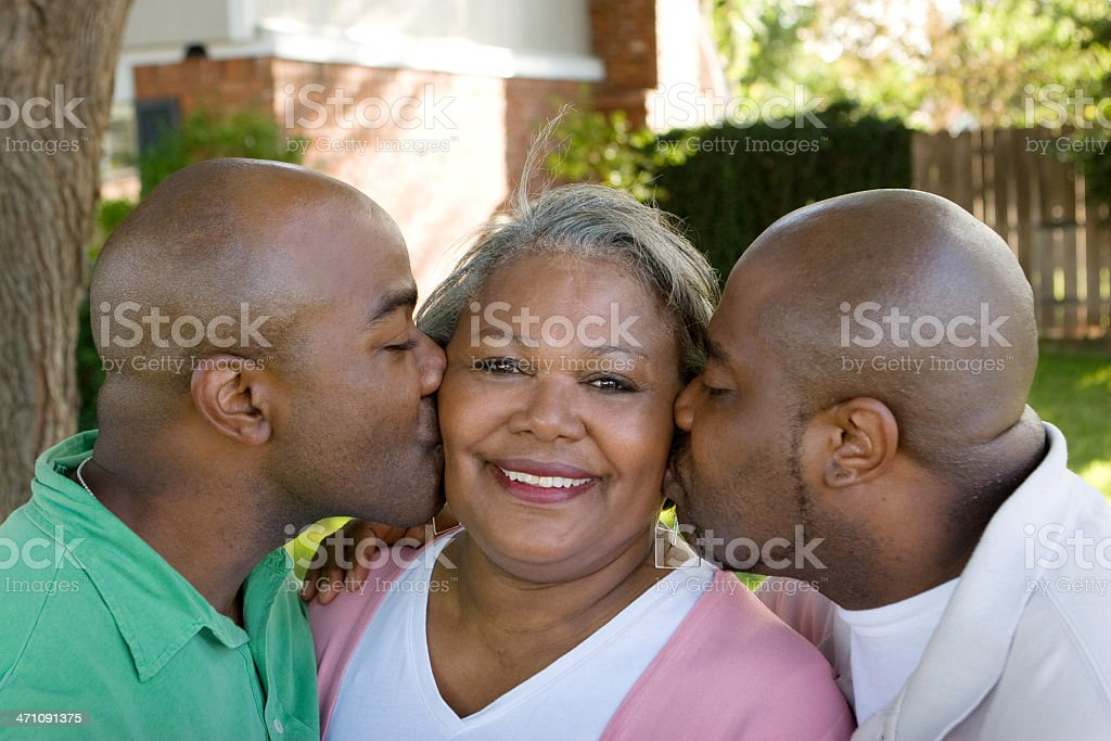 Mother and her sons royalty-free stock photo