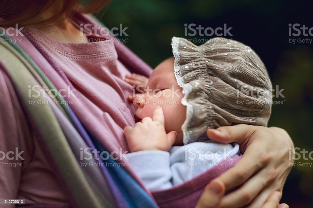 Mother and infant stock photo