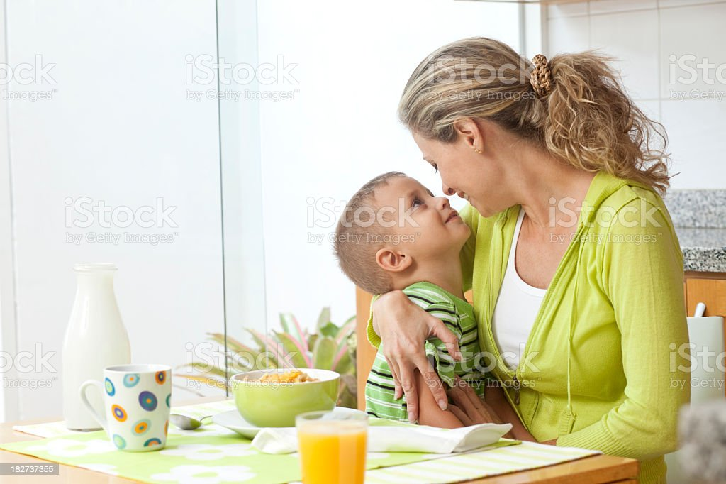 Mother and little son embracing royalty-free stock photo