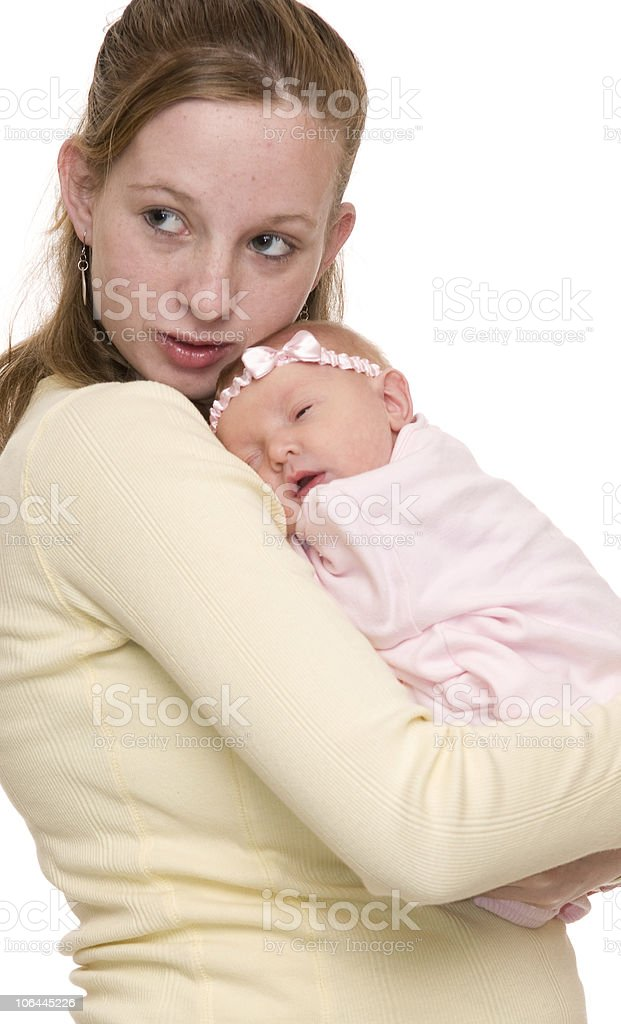 Mother and Newborn Baby royalty-free stock photo