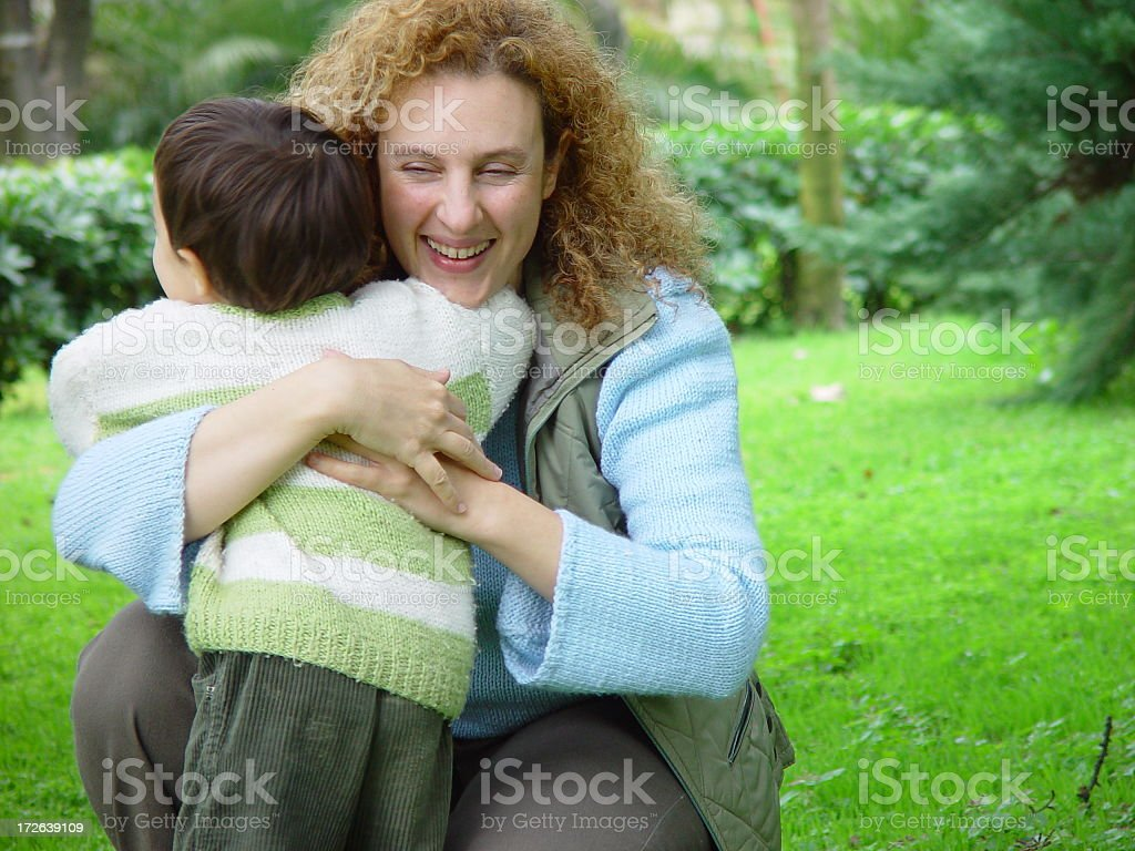Mother and son happy royalty-free stock photo