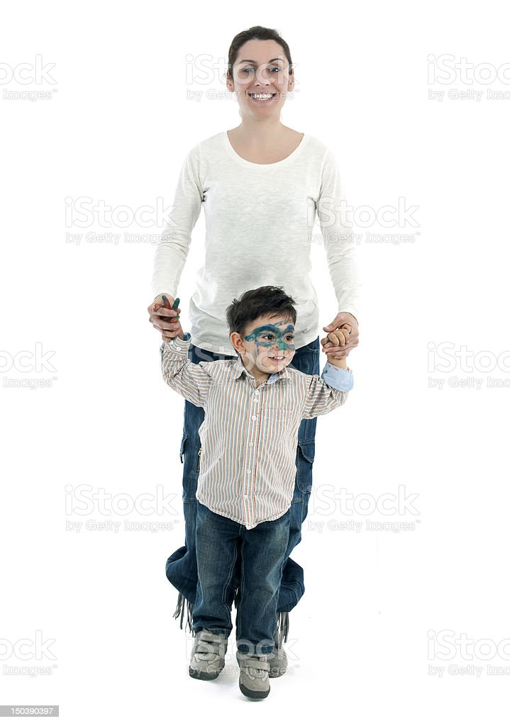 mother and son having fun royalty-free stock photo