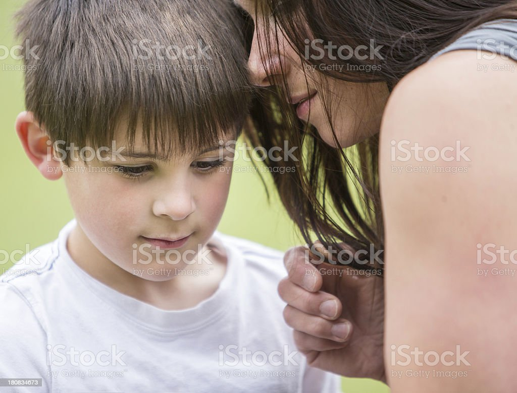 Mother and Son Moment royalty-free stock photo