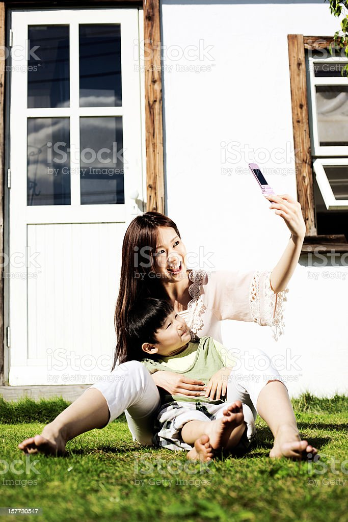 Mother and son photo royalty-free stock photo