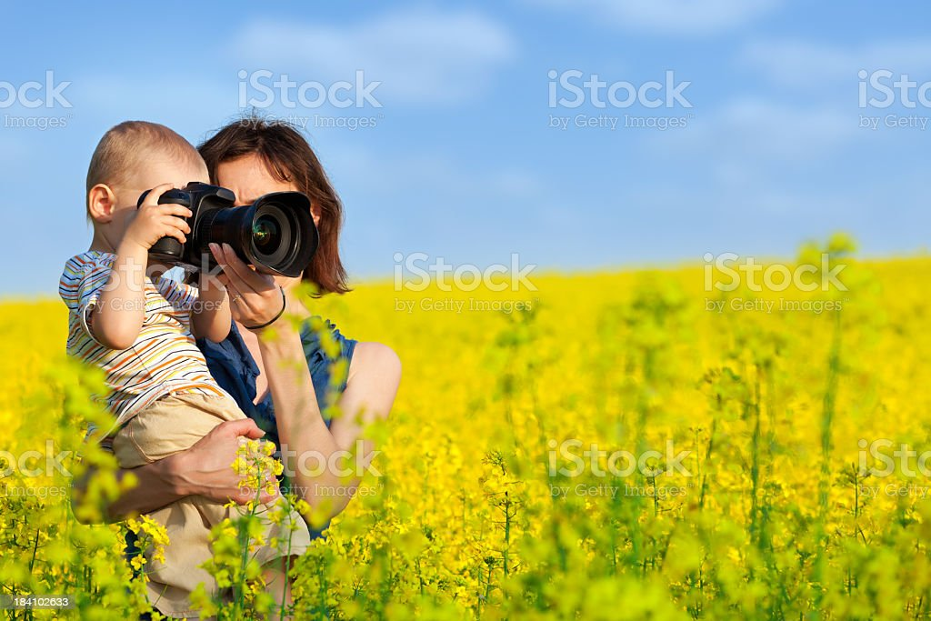 Mother and son photograph royalty-free stock photo
