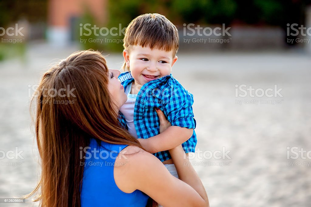 Mother and son. stock photo