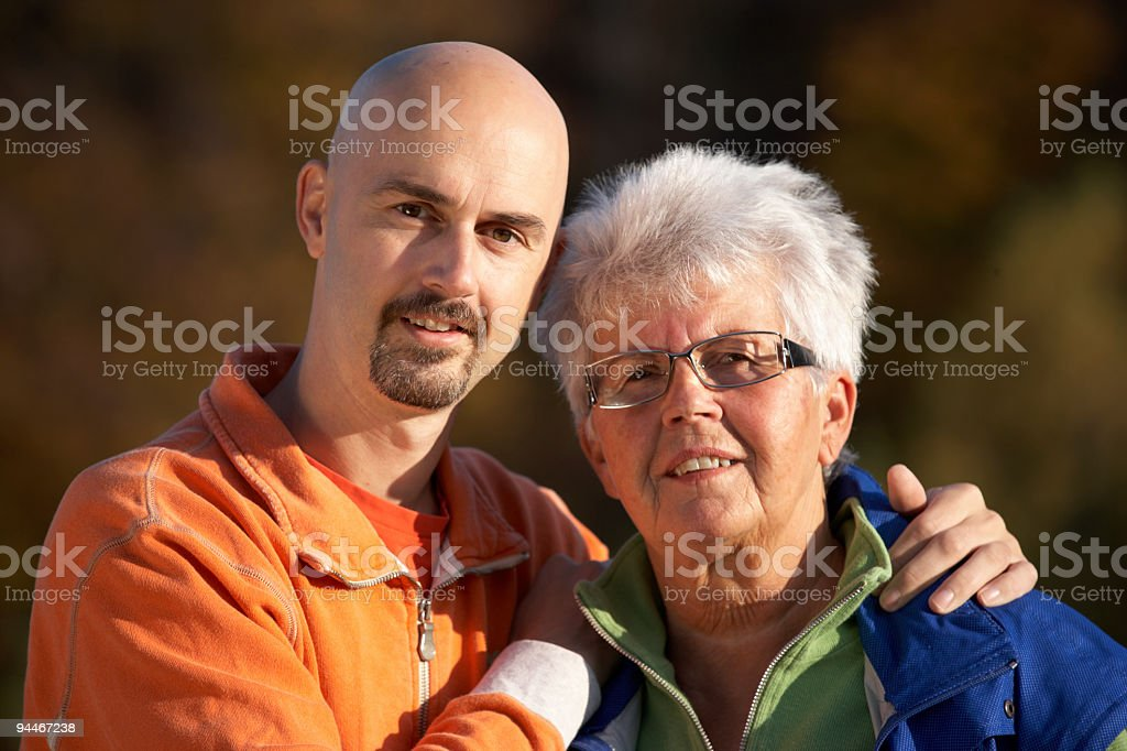mother and son series royalty-free stock photo