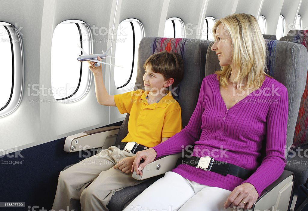 Mother and Son Traveling royalty-free stock photo