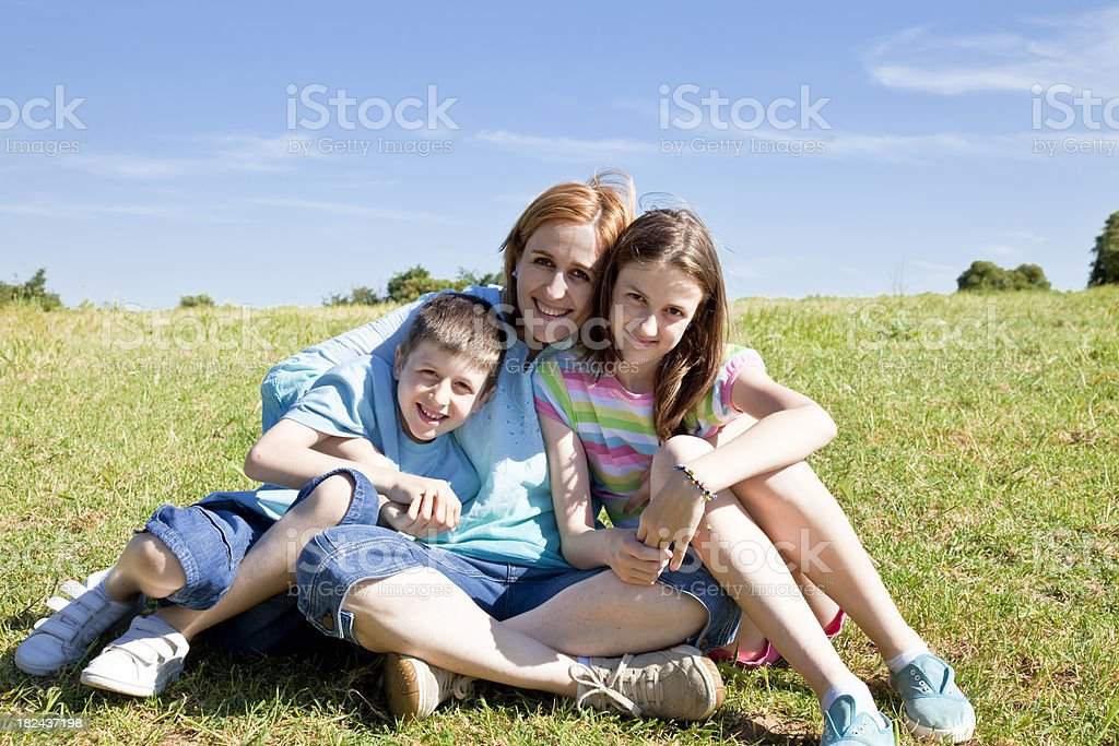 Mother and sons royalty-free stock photo