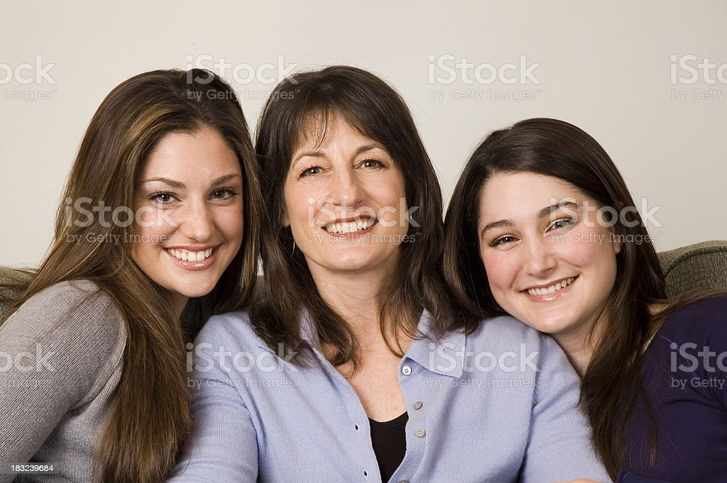Madre e figlie Teenaged foto stock royalty-free