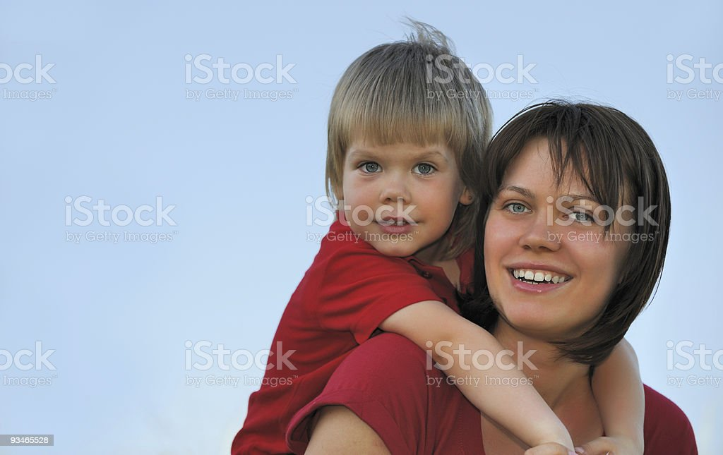 Mother and the son royalty-free stock photo