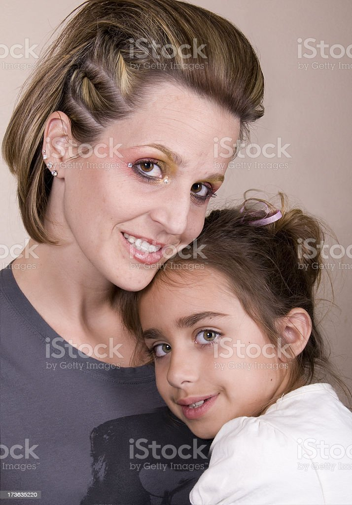 Mother and Young Daughter stock photo