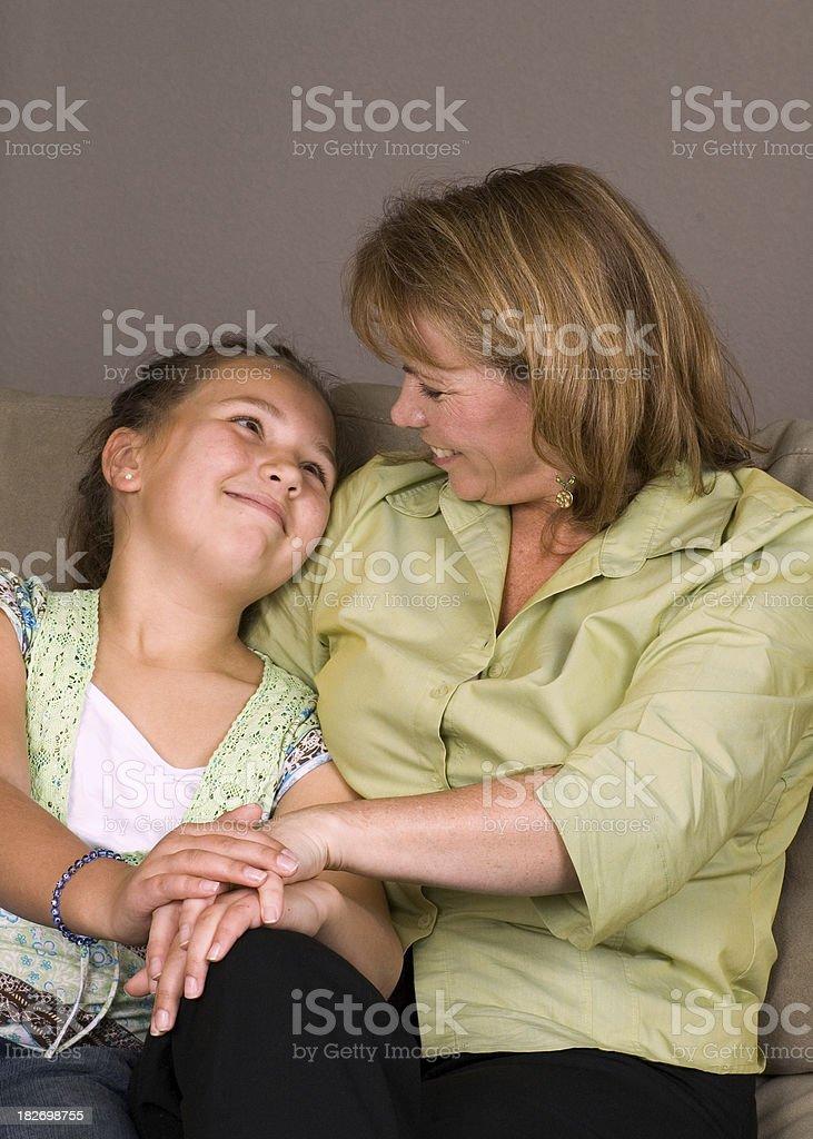 Giovane Madre e figlia foto stock royalty-free