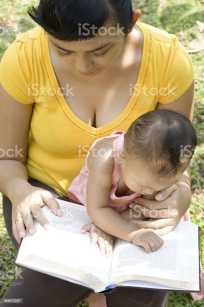 mother babysit baby stock photo