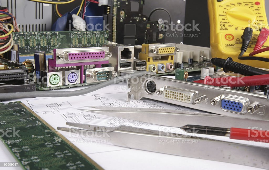 Mother Board royalty-free stock photo