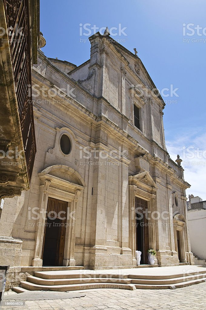 Mother Church of Assumption. Ceglie Messapica. Puglia. Italy. royalty-free stock photo