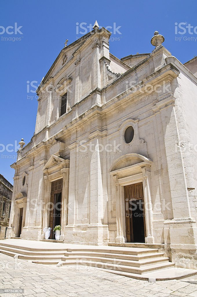 Mother Church of Assumption. Ceglie Messapica. Puglia. Italy. stock photo