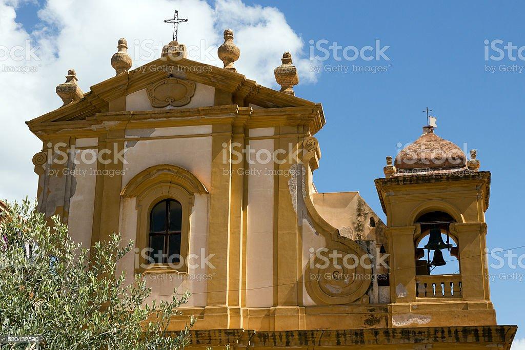 Mother Church of Castellammare del Golfo - Sicily stock photo