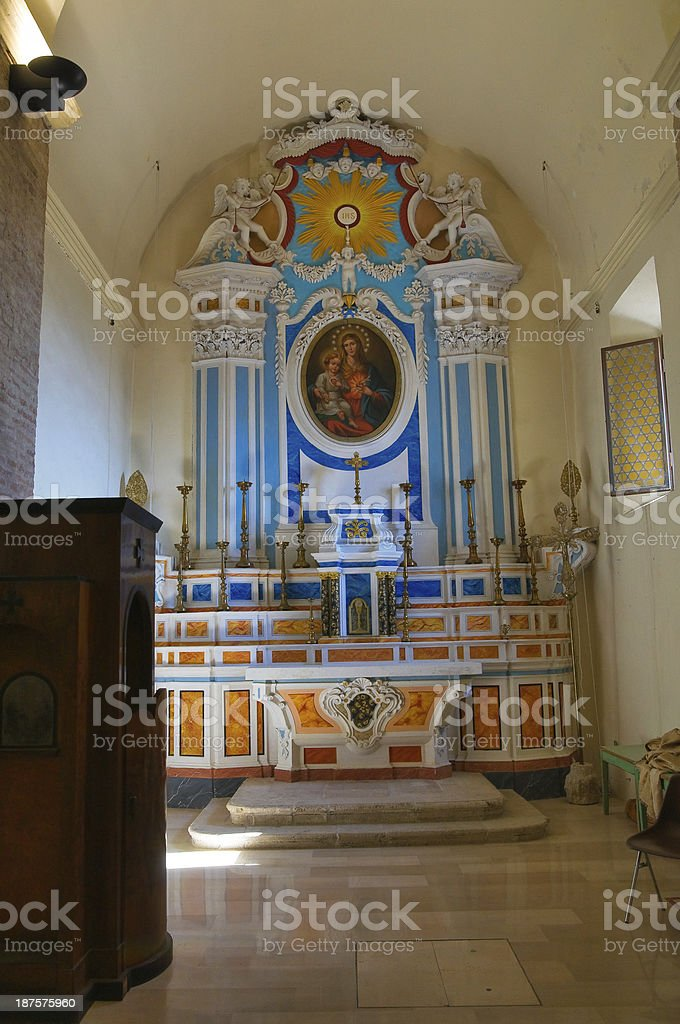 Mother Church of Pisticci. Basilicata. Italy. royalty-free stock photo