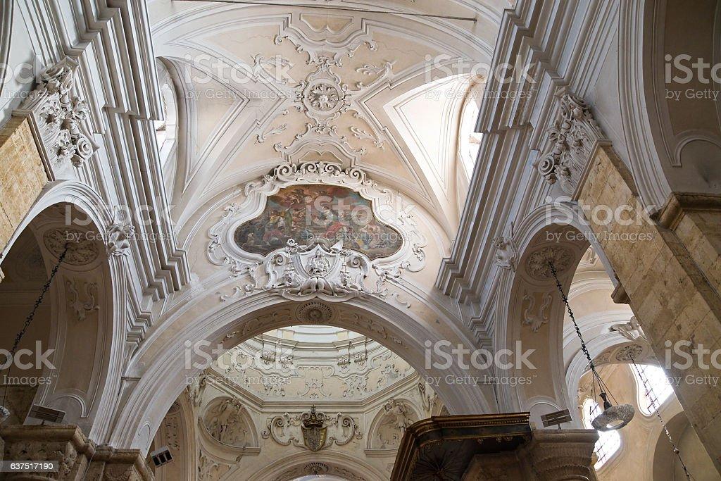 Mother church of St. Nicola. Rutigliano. Puglia. Italy. stock photo